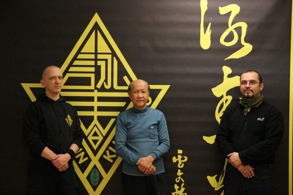 Germany- Sifu Lo Man Kam with his diciples Andreas Zerndt und Marc Debus